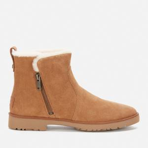 UGG Women's Romely Zip Suede Ankle Boots - Chestnut