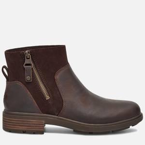 UGG Women's Harrison Zip Waterproof Leather Ankle Boots - Stout