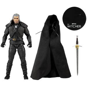 McFarlane Witcher (Netflix) 7 Inch Action Figure - Geralt of Rivia (With Cloth Cape)