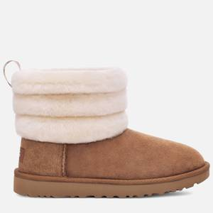 UGG Women's Fluff Mini Quilted Sheepskin Boots - Chestnut