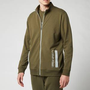 Calvin Klein Men's Full-Zip Sweatshirt - Army Green