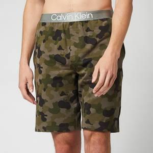 Calvin Klein Men's Sleep Shorts - Galvanize Camo Army Green