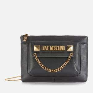 Love Moschino Women's Gold Detail Cross Body Bag/Pouch - Black