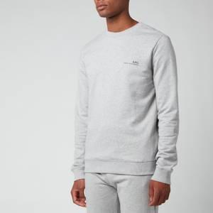 A.P.C. Men's Item Sweatshirt - Heather Grey