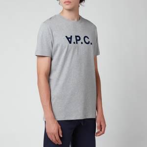 A.P.C. Men's Vpc Colour Logo T-Shirt - Heathered Light Grey