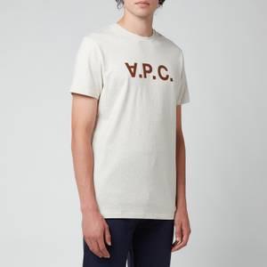 A.P.C. Men's Vpc Colour Logo T-Shirt - Beige