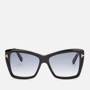 Tom Ford Women's Leah Butterfly Frame Sunglasses - Black/Smoke