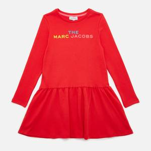 The Marc Jacobs Girls' Snow Day In New-York Logo Dress - Red