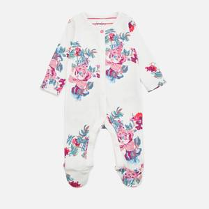 Joules Babys' Razamataz Floral Babygrow - White Floral