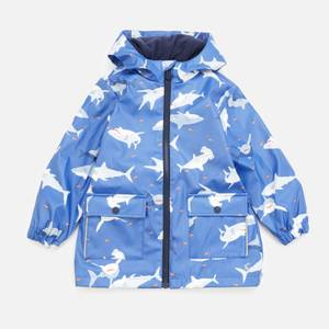 Joules Boys' Skipper Shark Print Raincoat - Blue
