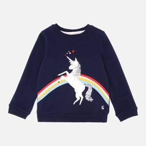 Joules Girls' Mackenzie Unicorn Sweatshirt - Blue