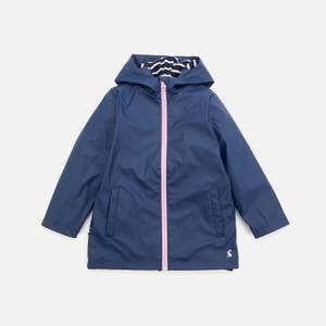 Joules Girls' Riverside Owl Raincoat - Blue