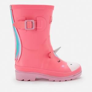 Joules Girls' Unicorn Wellies - Pink