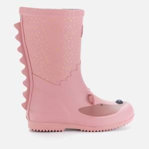 Joules Girls' Hedgehog Wellies - Pink