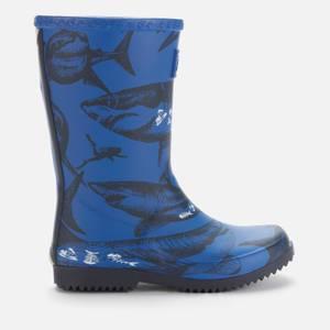 Joules Girls' Shark Wellies - Blue