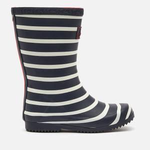 Joules Girls' Stripe Wellies - Navy