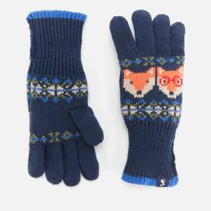 Joules Boys' Fox Gloves - Navy - 3-7 Years