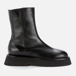 Wandler Women's Rosa Leather Mid Calf Boots - Black