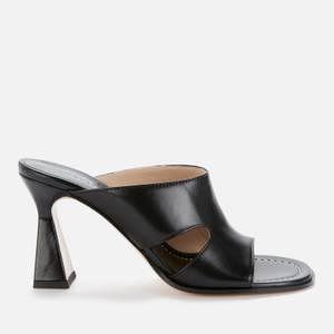 Wandler Women's Marie Leather Heeled Sandals - Black