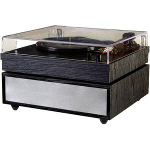 Grausch PSL200UK Turntable with Soundbase and Bluetooth Audio - Black Woodgrain Finish