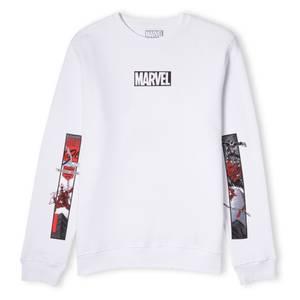 Venom Marvel Comic Strips Unisex Sweatshirt - White