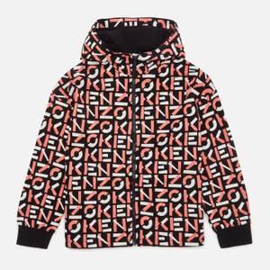 KENZO Girls' AOP Print Zip Through Hoody - Black