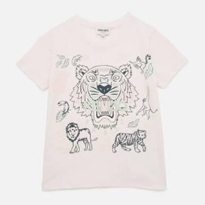 KENZO Girls' Tiger T-Shirt - Pale Pink