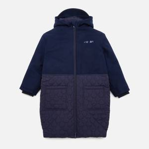 KENZO Girls' Emboidered Hooded Coat - Electric Blue