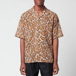 Martine Rose Men's Oversized Hawaiian Shirt - Brown Python
