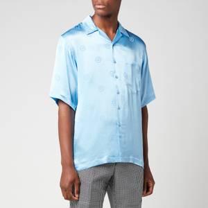 Martine Rose Men's Oversized Hawaiian Shirt - Light Blue