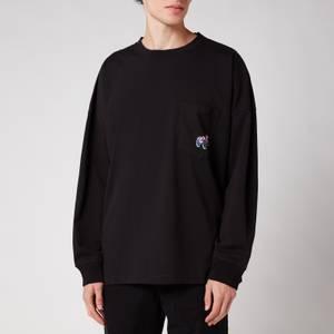 Martine Rose Men's Relaxed Long Sleeve T-Shirt - Black
