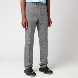 Martine Rose Men's Paneled Tailored Trousers - Black/White