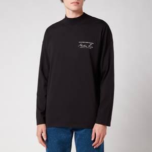 Martine Rose Men's Funnel Neck Long Sleeve T-Shirt - Black