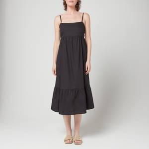 Faithfull The Brand Women's Candace Midi Dress - Plain Black