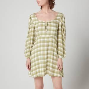 Faithfull The Brand Women's Tilla Mini Dress - Ligne Check Print Olive