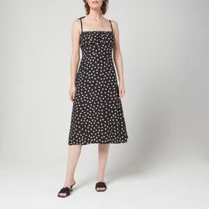 Faithfull The Brand Women's Raven Midi Dress - Neoma Dot Print