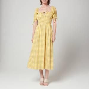 Faithfull The Brand Women's Flora Midi Dress - Mari Check Print