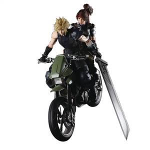 Square Enix Final Fantasy VII REMAKE Play Arts Kai Set - Jessie, Cloud & Motorcycle
