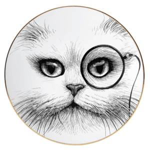 Rory Dobner Decorative Perfect Plate - Cat Monocle