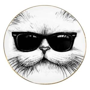 Rory Dobner Decorative Perfect Plate - Cool Cat