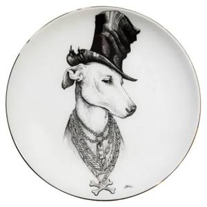Rory Dobner Decorative Perfect Plate - The Don Whippet - Medium