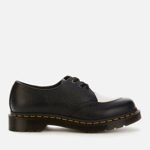 Dr. Martens Women's 1461 Amore Leather 3-Eye Shoes - Black/White