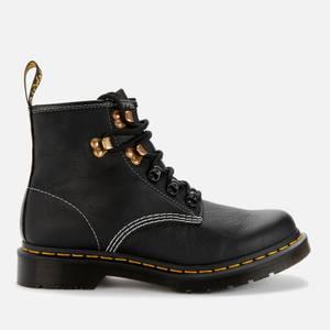 Dr. Martens Women's 101 Virginia Leather 6-Eye Boots - Black