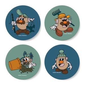 Mr. Potato Head Coaster Set