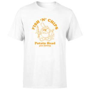 Mr. Potato Head Fish N Chips Men's T-Shirt - Cream