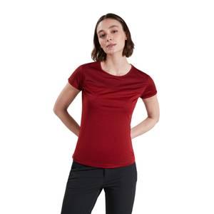 Women's Voyager Tech Tee Short Sleeve Crew - Dark Red