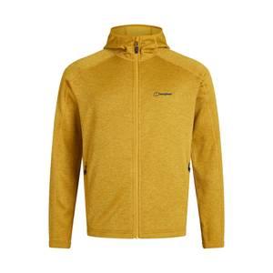 Men's Spitzer Hooded Interactive Fleece - Brown / Yellow
