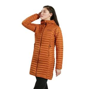 Women's Nula Micro Long Insulated Jacket - Brown