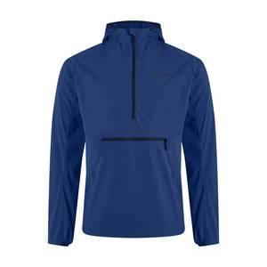Men's Theran Softshell Hooded Half Zip Jacket - Blue
