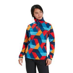 Women's Navala Half Zip Fleece Jacket - Red / Blue